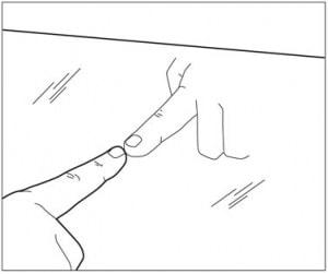 gap (non-mirror side)
